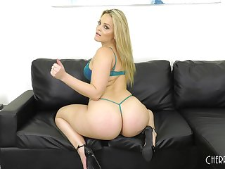 Solo blonde MILF model Alexis Texas strips and plays with toys