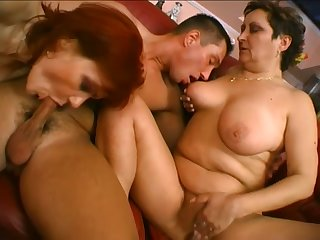 Torrid mature whores get their wet pussies licked and nailed