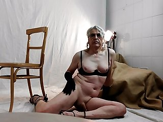 Cock, tits and gloves