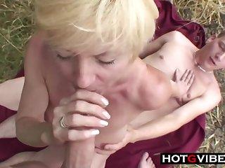 Nephews Sneak Grandma Away For A 3Some Sex - ANALDIN