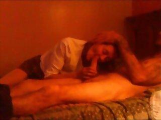 Wife Elise sucking multiple cocks
