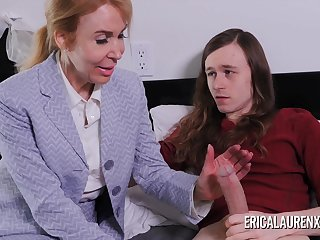 Nurse Erica Lauren makes a house call for a younger guy