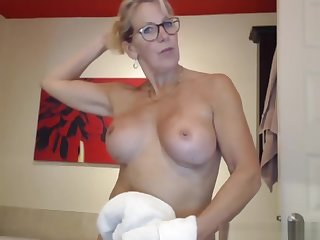 My step mother camming for some attention