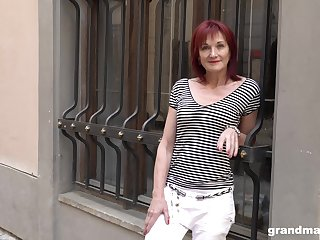 Redhead mature slut picked up on the street for a hardcore fuck