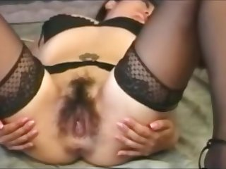 straight asian mature pussy anal dildo fisting lingerie pantyhose sextoy 73