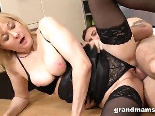 Granny & 18-Years-Old Intimacy Slave - MILF