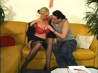 Mature in stockings fucked doggystyle