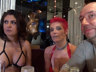 Marishax and her mature whore friends take cum on faces in an orgy