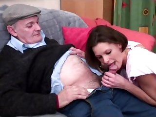 voyeur papy enjoys a young pussy