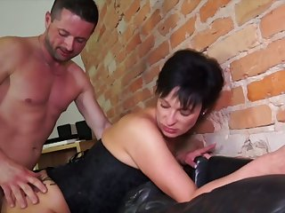 German mature wife takes hard dick in stretched butt hole cowgirl style