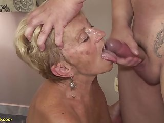 big boob hairy 8 old granny gets rough fucked in all possible sex positions