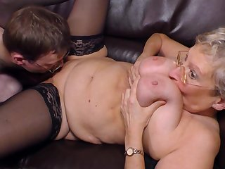Raunchy Blondie Granny Angelika Pounded H - fetish