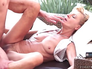 Classy Skinny Granny Gets Copulated By A Huge Cock - leigh darby