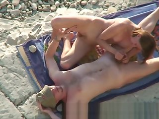 Couple Horny Sex At Nude Beach Hidden Camera
