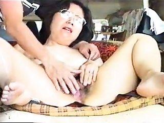 Asian mature slut close up