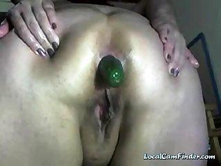 Cucumber in Big Mature Ass - negrofloripa