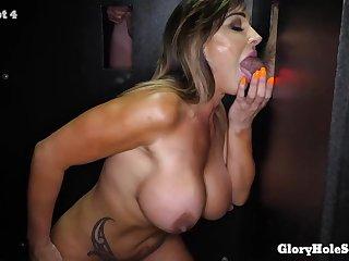 Beauty Babe Aubrey Black Gloryhole Porn