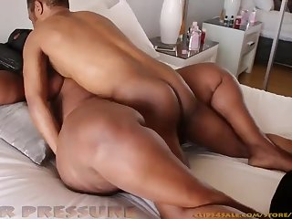 African Supersized Big Beautiful Women Squeezing the Nut Out.