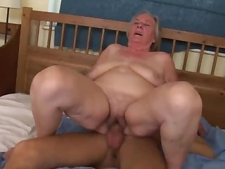 Skinny dude used to fuck lustful grannies