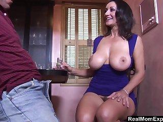 Having drinks mature lady Persia Monir lures stud for random fuck