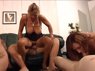 German sluts enjoying a swingers party at home and they know how to have fun