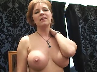English mature mommy in stockings Wendy Fucks Lad