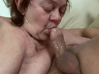 Hungarian Granny GILF nailed in stockings - ugly euro porn with cumshot