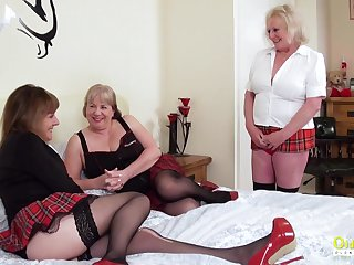 Older more experienced mature women arrange a threesome