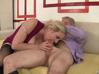 Mature sucks dick during casting them fucks like she's a whore