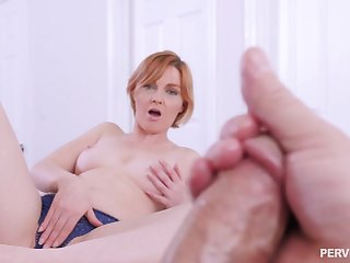 Aroused MILF wants a piece of her step son's tasty dong