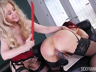 Nina Hartley and Sexy Vanessa are two matures that love lesbo sex