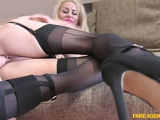 Amazing blonde woman deals the strong dong in impressive POV scenes