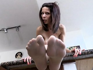 Mature Nylon Foot Tease