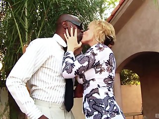 Interracial fucking on the bed with cheating wife Stephanie Hall