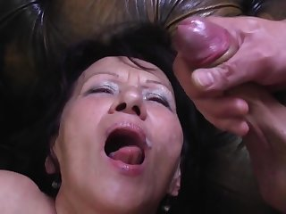 Young Pervert Busts his Load in Greeedy Mouth of GILF Kataline
