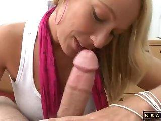 Delicious Blond housewife gets pounded