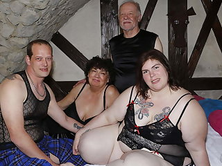 BBW Swinger wife used by 4 strangers