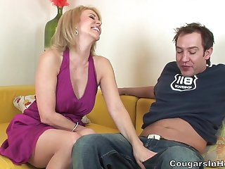 Raunchy Mature With Stockings Copulated In Her Hairy Cunt
