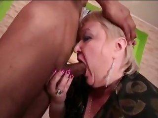 Cock-Hungry Grandma Gobbles Up Skinny Asian Boy