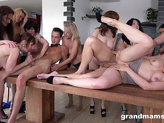 Naughty Grandmams And Toyboys - Sex Orgy