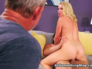 Cuckold to the ass-fucked wife - Nancy Jay, John James, and Tarzan - 40SomethingMag