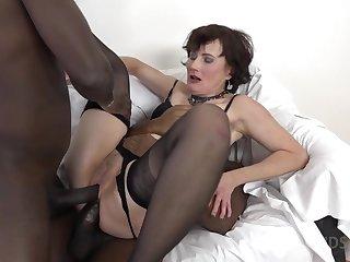 Thrilling Mature Slut DPed By Two Huge Black Dicks