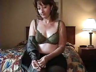 My wife is always happy to take off her clothes and she loves her glass dildo
