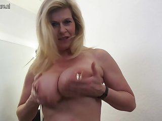 Big Breasted Heavily Pierced German Housewife Masturbating - MatureNL