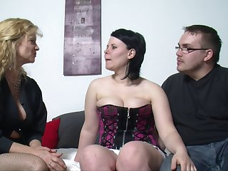 Fat wife spreads her legs to be fucked next to her best friend