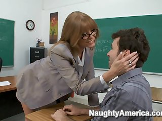 Gorgeous Mommy Hot Classroom Sex Video