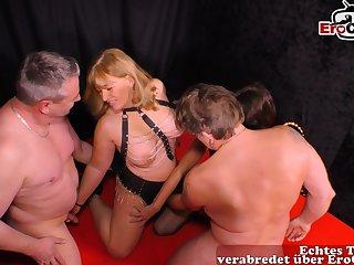 German amateur homemade swinger orgy