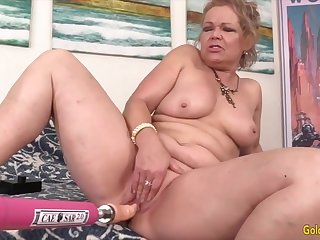 Lustful Grannies Satisfied by Sex Machines Compilation