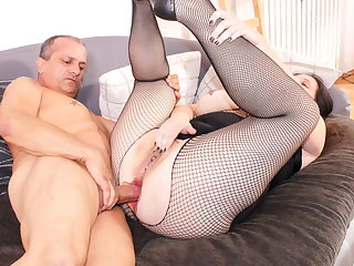 ReifeSwinger - BBW German Wife Tries Hard Anal With Husband