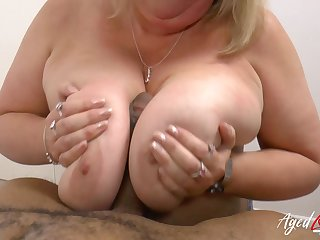 Hardcore interracial fuck with extremely busty mature lady Melon Marie and Diamond Lou